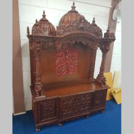 Designer Wooden Temple for Home