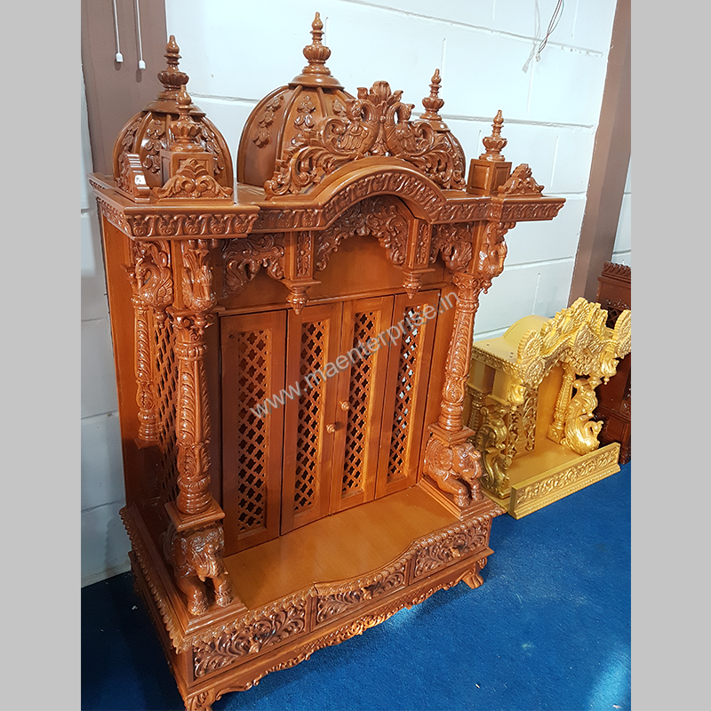 Indian Wooden Temple Design For Home_2