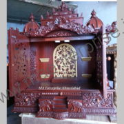 Wooden Temple with Doors for Home Decoration_1