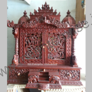 Wooden Temple with Doors for Home Decoration_2
