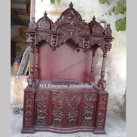 Customized Natural Wooden Temple
