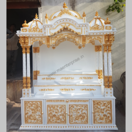 Eco Friendly Wooden Temple With Steps Design