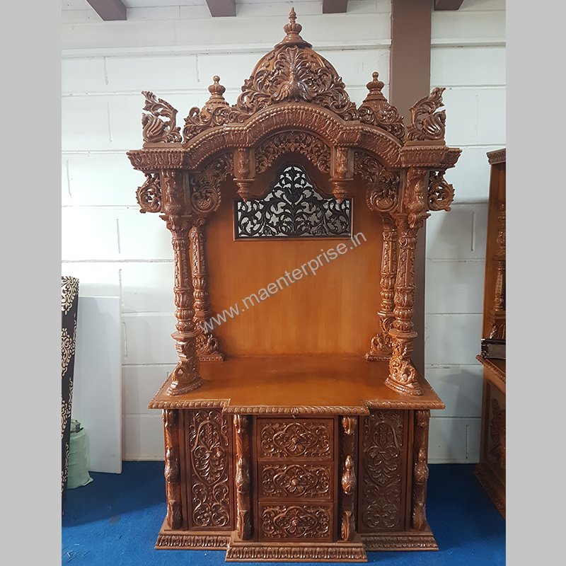 Wooden Temple for Home | Wooden Mandir USA | MA Enterprise