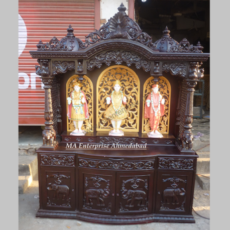 Antique Wooden Temple for Pooja Room