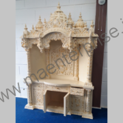 White wooden temple with curtains_1