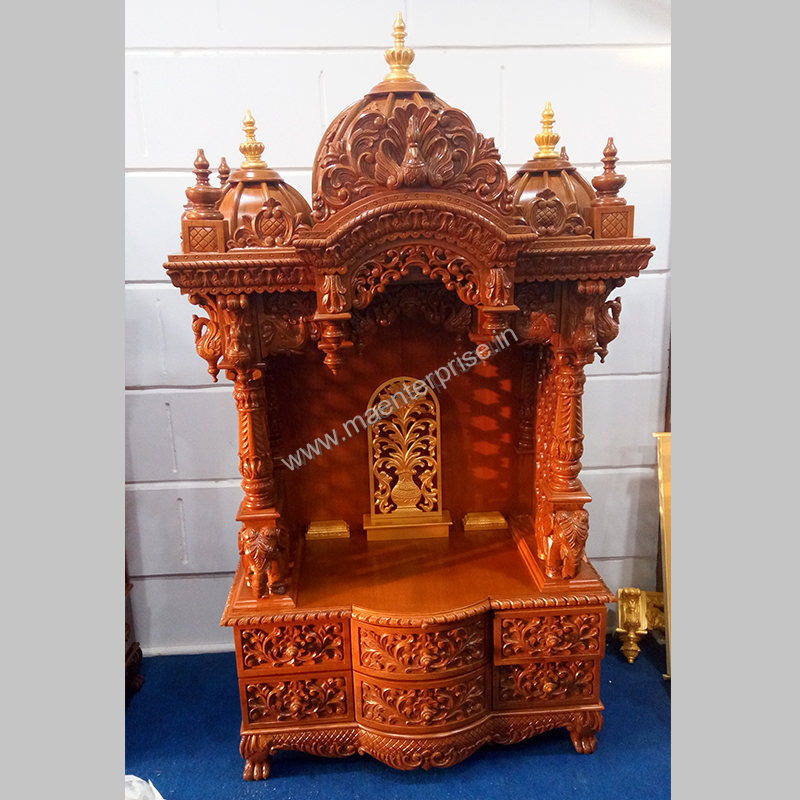 Small wooden temple designs for home for Mandir at home designs