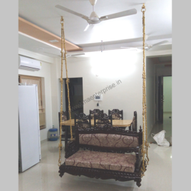 Royal Indian Traditional Wooden swing seats jhula_3