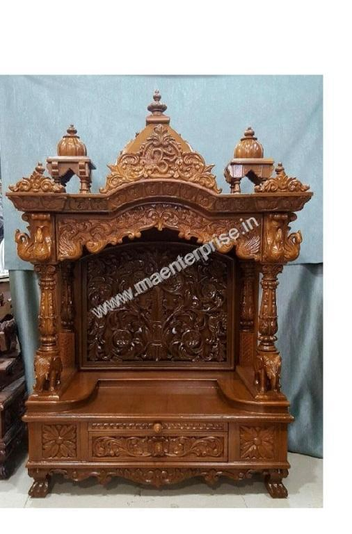 indian temple designs for home. a ready wooden temple mandir for home : piece immediate delivery indian designs