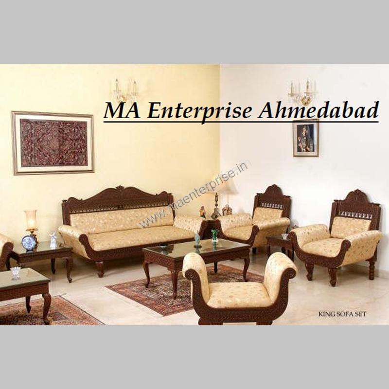 Traditional Rajasthani Indian Sofa Set, Traditional Teak Wood Sofa Set Designs Pictures